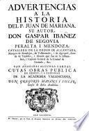 Advertencias a la historia del P. Juan de Mariana