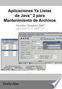 Aplicaciones Ya Listas De Javat 2 Para Mantenimiento De Archivos