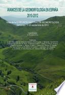 Avances de la Geomorfología en España, 2012-2012