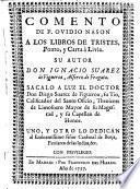 Comento de P. Ovidio Nason a los libros de Tristes, Ponto, y Carta à Livia