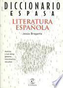 Diccionario Espasa literatura española