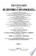 Diccionario universal de historia y de geografia ...