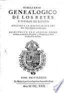 Nobiliario Genealogico De Los Reyes Y Titulos De España