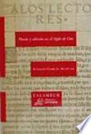 Poesía y edición en el Siglo de Oro