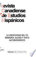 Revista canadiense de estudios hispánicos