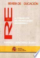 Revista de educación nº 331. La formación del profesorado universitario